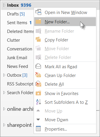 Add a new folder