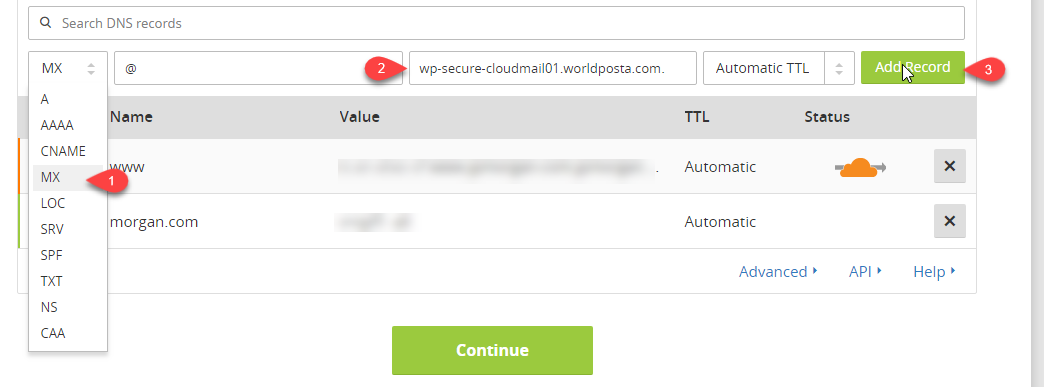 How to configure DNS records in Cloudflare