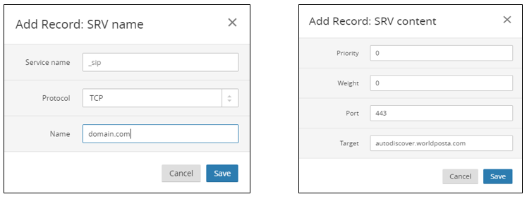 WorldPosta SRV Record - How to configure DNS records in Cloudflare.