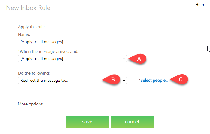 word image 68 - Automatically forward messages to another user
